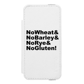 NoWheat&NoBarley&NoRye&NoGluten! (blk) Wallet Case For iPhone SE/5/5s