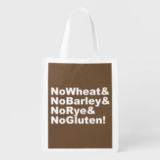 NoWheat&NoBarley&NoRye&NoGluten! (wht) Grocery Bag