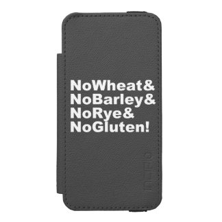NoWheat&NoBarley&NoRye&NoGluten! (wht) iPhone SE/5/5s Wallet Case