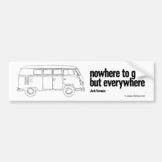 nowhere – a vintage camper bumper sticker