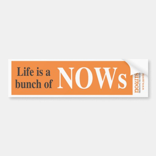 Nowism Bumper Stickers