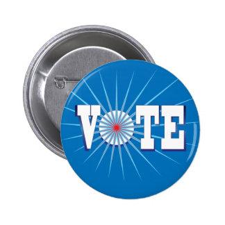 NowPower • VOTE ! Button, round/blue Button