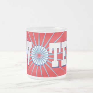 NowPower • VOTE Frosted Glass Mug, red
