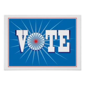 NowPower • VOTE ! Poster in Blue