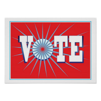 NowPower • VOTE ! Poster in Red