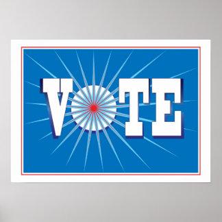 NowPower • ¡VOTO! Poster en azul