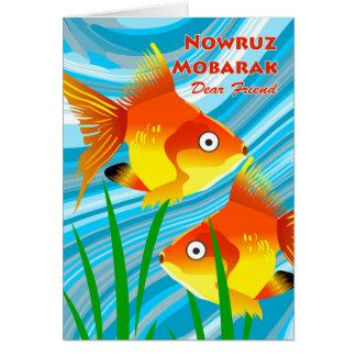 Nowruz Mobarak, Persian New Year for Friend, Fish Card