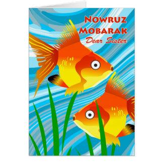 Nowruz Mobarak, Persian New Year, For Sister, Fish Card