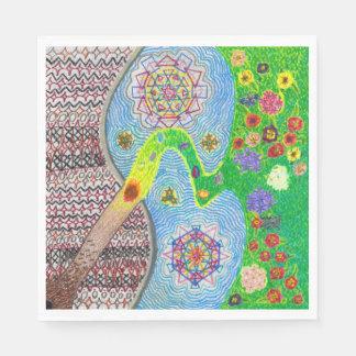 Nowruz Spring and Life Renewal Set of Napkins