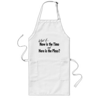 Now's the Time Long Apron