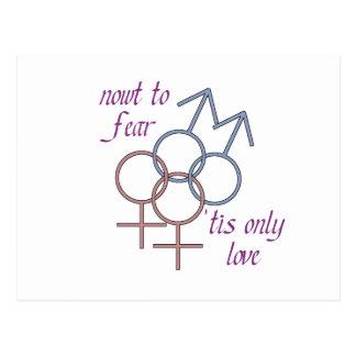 ¡Nowt al miedo, los 'tis ama solamente! Postales