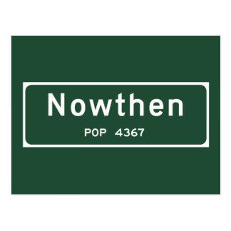 Nowthen, Road Marker, Minnesota, USA Postcard