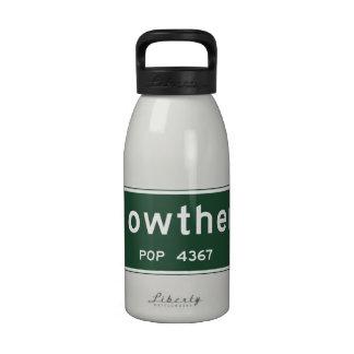 Nowthen, Road Marker, Minnesota, USA Drinking Bottles