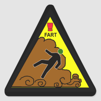 noxious gas alert triangle sticker