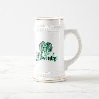 NOXIOUS TEDDY - Absinthe The Green Fairy Beer Stein