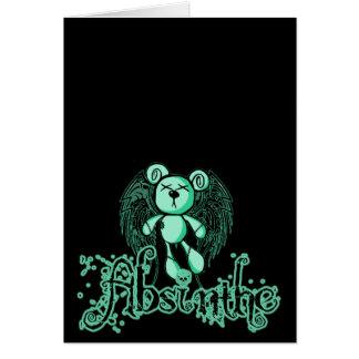 NOXIOUS TEDDY - Absinthe The Green Fairy Card