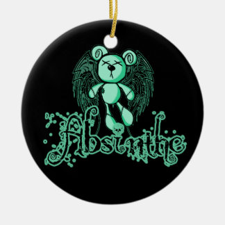 NOXIOUS TEDDY - Absinthe The Green Fairy Ceramic Ornament