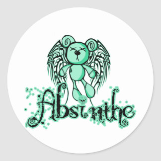 NOXIOUS TEDDY - Absinthe The Green Fairy Classic Round Sticker
