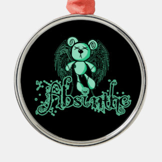NOXIOUS TEDDY - Absinthe The Green Fairy Metal Ornament