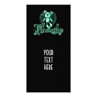 NOXIOUS TEDDY - Absinthe The Green Fairy Customized Photo Card