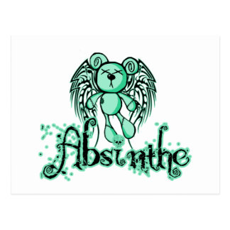 NOXIOUS TEDDY - Absinthe The Green Fairy Postcard