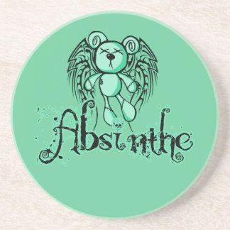 NOXIOUS TEDDY - Absinthe The Green Fairy Sandstone Coaster
