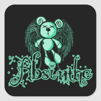 NOXIOUS TEDDY - Absinthe The Green Fairy Square Sticker