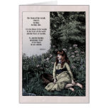 """Noyes """"Heart of the Woods"""" Victorian Art Card"""