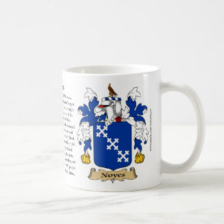 Noyes, the Origin, the Meaning and the Crest Classic White Coffee Mug