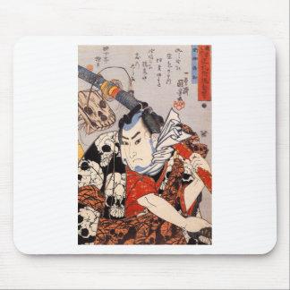 Nozarashi Gosuke carrying a long sword by Utagawa Mouse Pad