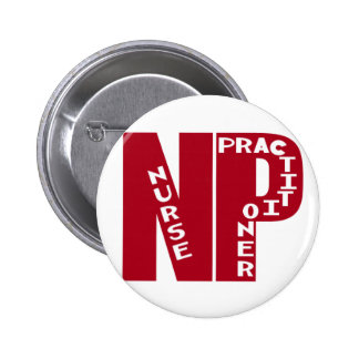 NP Big Red NURSE PRACTITIONER Button