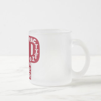 NP Big Red NURSE PRACTITIONER Frosted Glass Coffee Mug