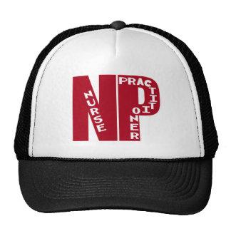 NP Big Red NURSE PRACTITIONER Trucker Hat