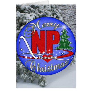 NP CHRISTMAS MERRY - NURSE PRACTITIONER GREETING CARD