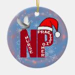 NP CHRISTMAS ORNAMENT SANTA HAT NURSE PRACTIONER