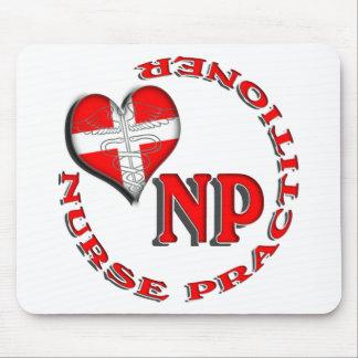 NP CIRCULAR LOGO NURSE PRACTITIONER MOUSE PAD