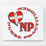 NP CIRCULAR LOGO NURSE PRACTITIONER MOUSE PADS