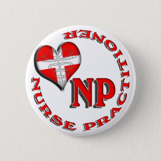 NP CIRCULAR LOGO NURSE PRACTITIONER PINBACK BUTTON