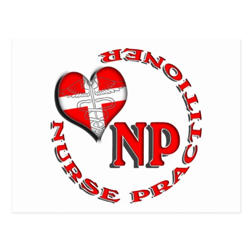 NP CIRCULAR LOGO NURSE PRACTITIONER POSTCARD