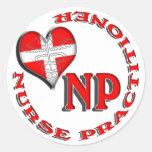 NP CIRCULAR LOGO NURSE PRACTITIONER STICKER