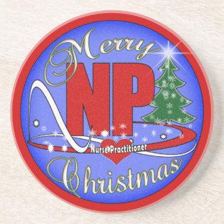 NP COASTERS CHRISTMAS MERRY - NURSE PRACTITIONER