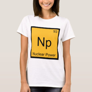 Np - Nuclear Power Chemistry Element Symbol Tee