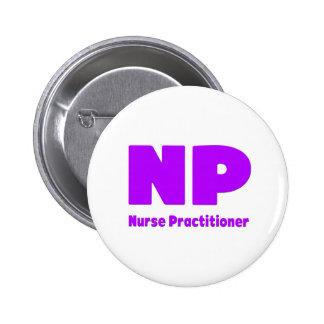 NP Nurse Practitioner purple 2 Inch Round Button