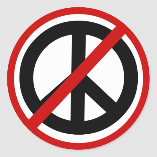 np-peace-sign round stickers