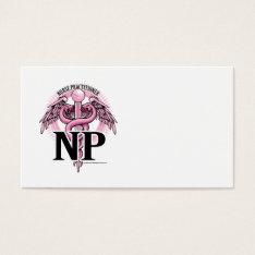 NP PINK Caduceus Business Card at Zazzle