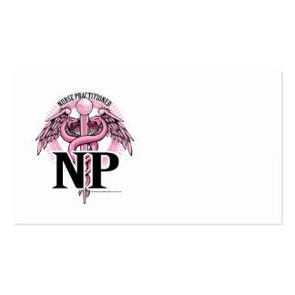 NP PINK Caduceus Business Card Template