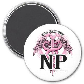 NP PINK Caduceus Refrigerator Magnets