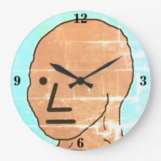 NPC MEME Fun Play Game Large Clock