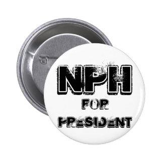 NPH for president Pin