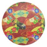 Nplate japonés oriental abstracto fresco del model plato para fiesta